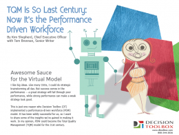 Performance driven workforce white paper