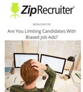 biased job ads